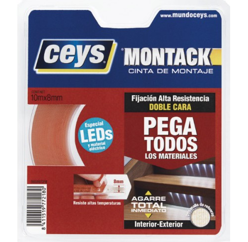 CEYS MONTACK DOBLE CARA 10M X 8MM
