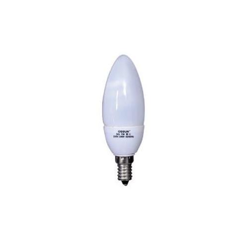 OSSUN LAMPARA BAJO CONSUMO VELA. E14. 11W. 2700K