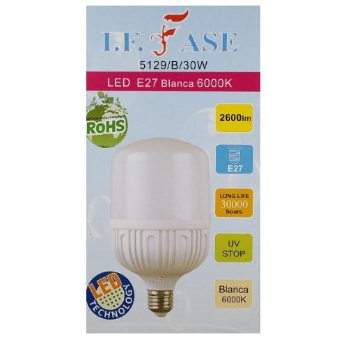 FASE LED E27 BLANCA 6000K 30W.5129/B/30W