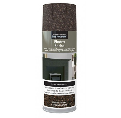 RUST-OLEUM PIEDRA MARRON MINERAL  SPRAY 400ML