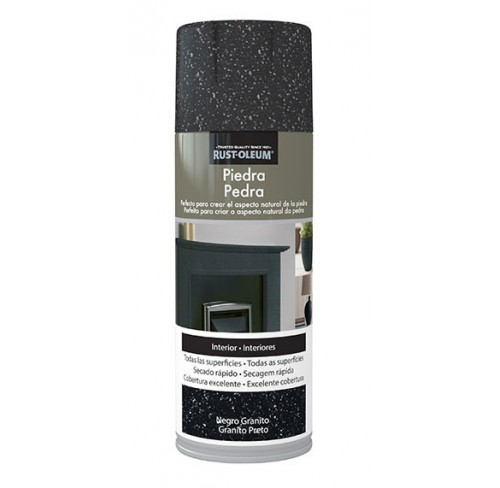 RUST-OLEUM PIEDRA NEGRO GRAFITO  SPRAY 400ML
