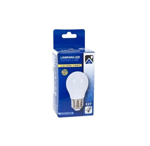 HEPOLUZ LAMPARA ESFERICA LED E27 6W 3000K