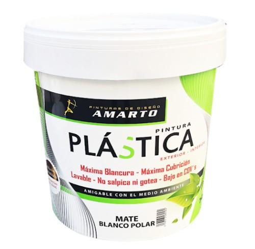 AMARTO PINTURA PLÁSTICA MATE BLANCO POLAR 14L