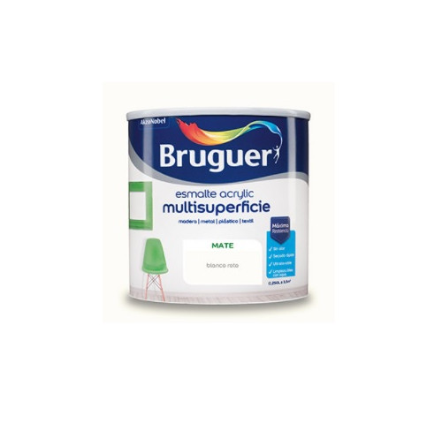 BRUGUER MULTISUPERFICIES MATE BLANCO PERMANENTE 750ML