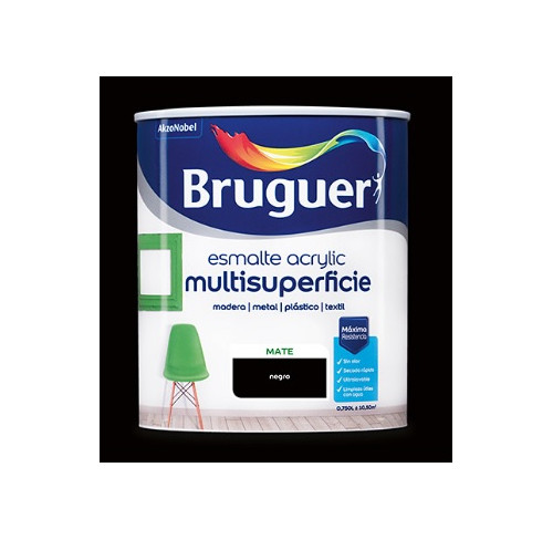 BRUGUER MULTISUPERFICIES MATE NEGRO 750ML
