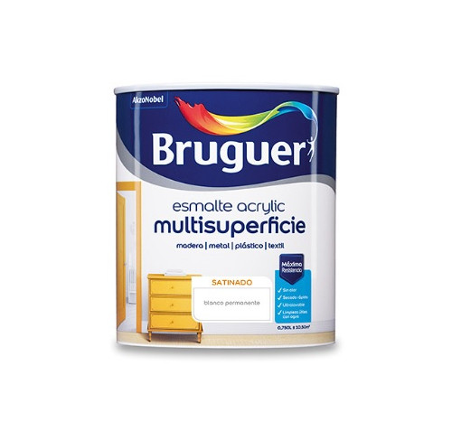 BRUGUER MULTISUPERFICIES SATINADO BLANCO PERMANENTE 750ML