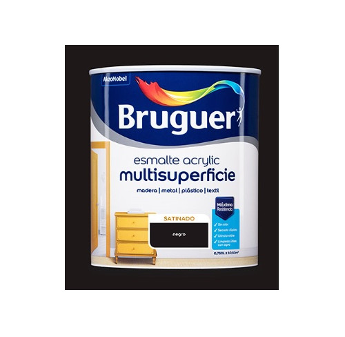 BRUGUER MULTISUPERFICIES SATINADO NEGRO  750ML