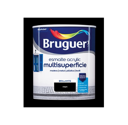 BRUGUER MULTISUPERFICIES BRILLANTE NEGRO PERMANENTE 750ML