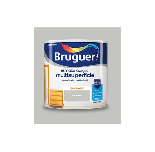 BRUGUER MULTISUPERFICIES SATINADO GRIS SUAVE 750ML