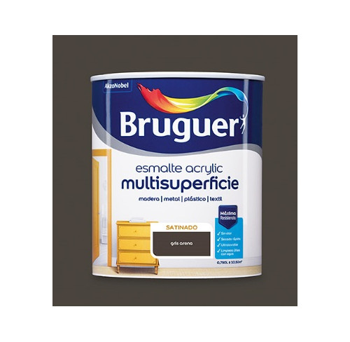 BRUGUER MULTISUPERFICIES SATINADO GRIS ARENA 750ML