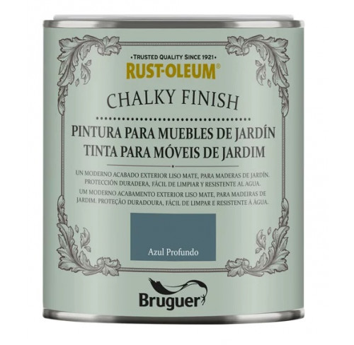 BRUGUER CHALKY FINISH MUEBLES JARDIN AZUL INTENSO