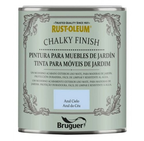 BRUGUER CHALKY FINISH MUEBLES JARDÍN AZUL CIELO
